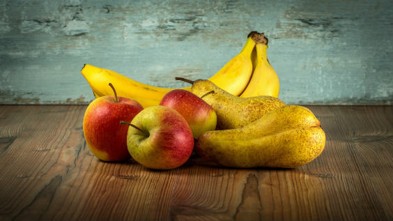 banane apfel kunst 564